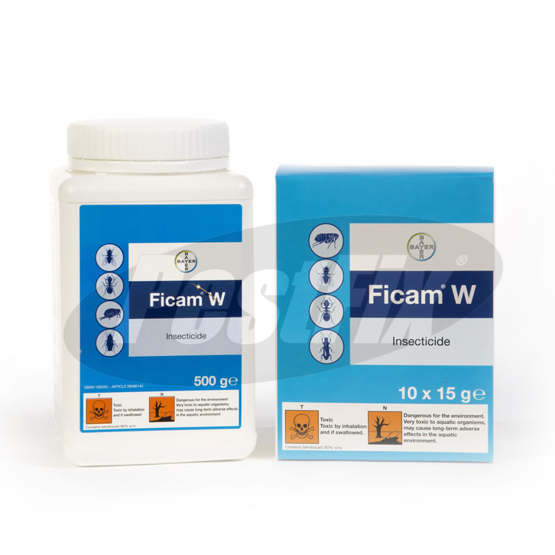 Bayer Ficam W Bendiocarb Wettable Powder Insecticide
