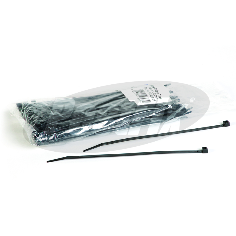Cable Ties 200mm X 4.8mm - Black Standard Nylon