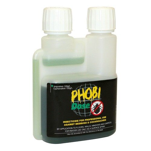 Phobi Dose Room Treatment - Bed Bugs and Cockroaches 250ml Dosing Bottle Concentrate