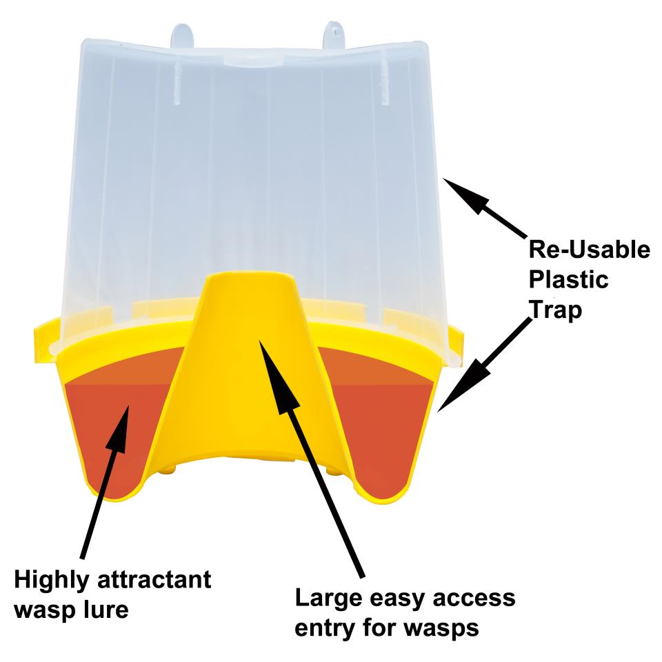 Wasp Pro Wasp Trap With 1 X 250ml Lure - BEST SELLER