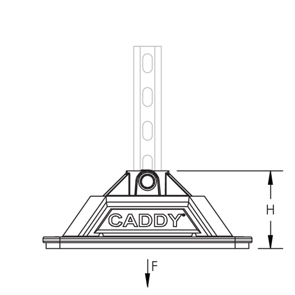 Non Piercing Caddy Pyramid Base Roof Mount