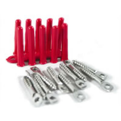 Screw Pin and Plug Masonry Anchor Fixing 10 Pack