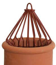 Decorative Universal Chimney Pot Guard Terracotta