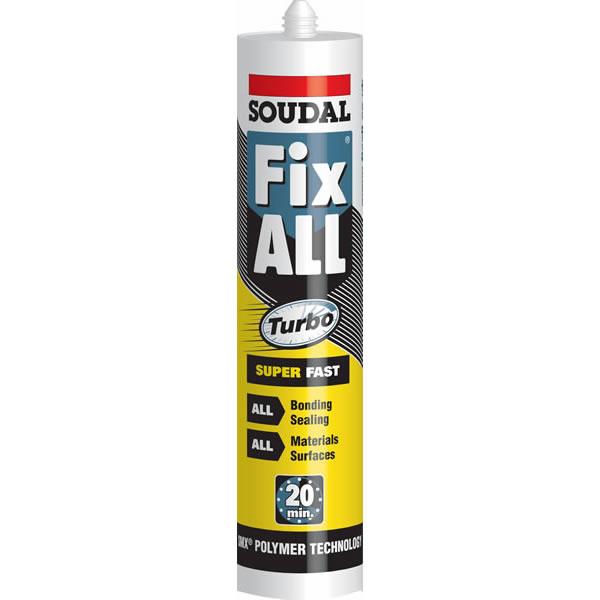 Fix All Turbo Super Fast SMX Hybrid Polymer Adhesive - White - Soudal