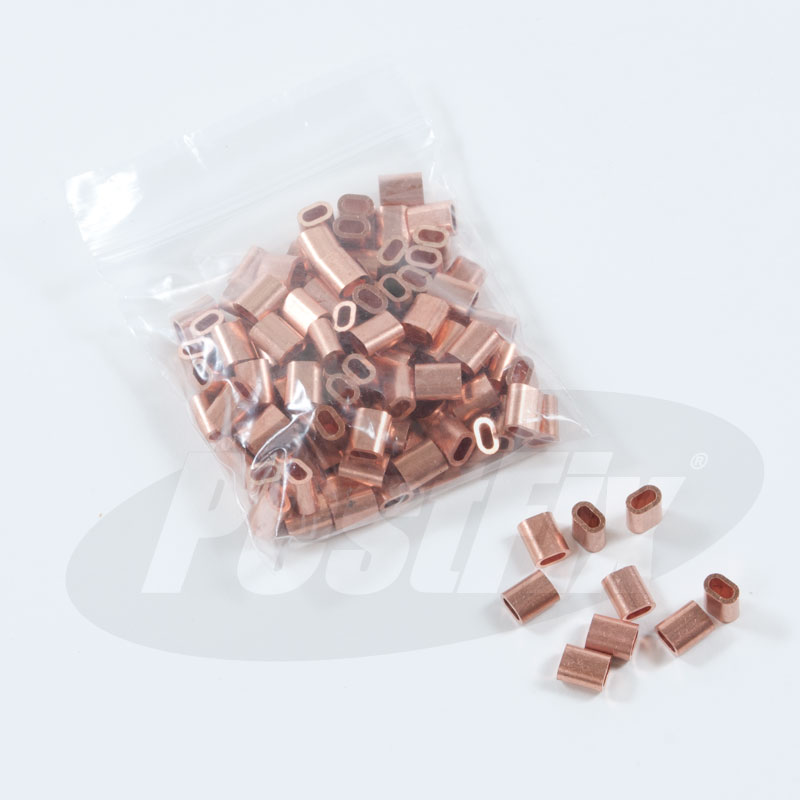2.5mm Copper Ferrules For 2mm Wire Rope Termination