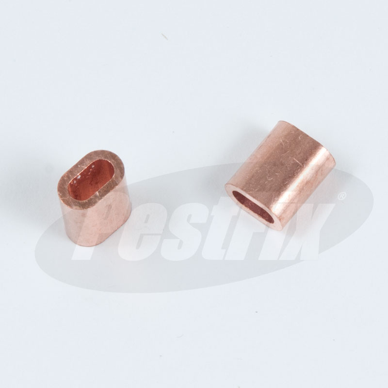 3.5mm Copper Ferrules for 3mm Wire Rope Termination