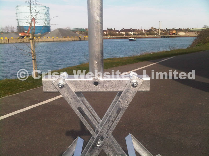 Non-Piercing Adjustable Ridge Mount 1m and 2m - Galvanised Steel