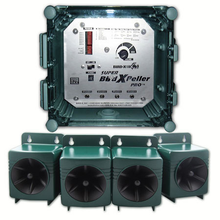 Super BirdXPeller Pro 4 Speaker Digital Bird Scarer - Version 2